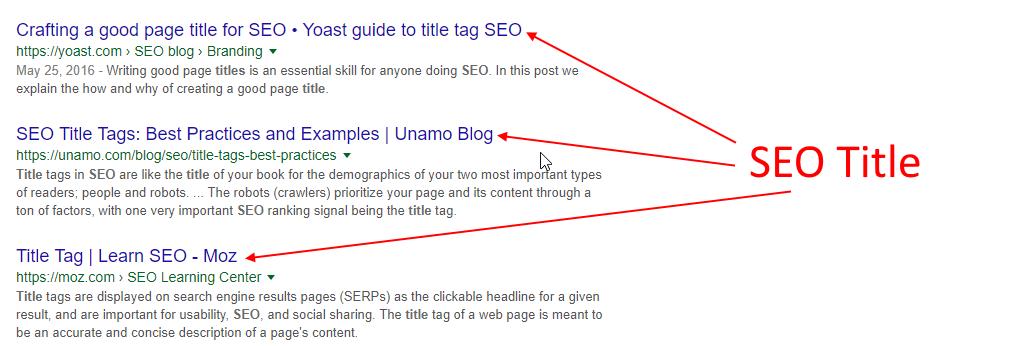 seo title example